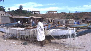 Fishing boats near Dakar, Senegal.