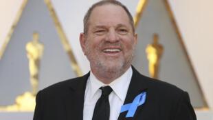 O produtor de cinema Harvey Weinstein na cerimônia do Oscars de 2017, em Hollywood, Califórnia.