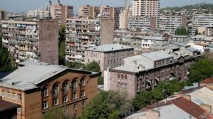Столица Армении Ереван, 25 апреля 2018