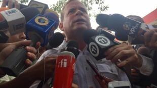 Ứng viên đối lập Venezuela Juan Pablo Guanipa đắc cử tại bang Zulia, ngày 15/10/2017.