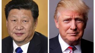 ប្រធានាធិបតីចិន លោក Xi Jinping និងសមភាគីអាមេរិក លោក Donald Trump.