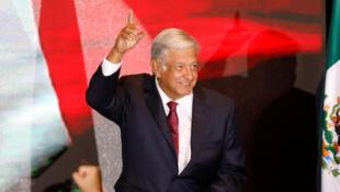 Andrés Manuel López Obrador, eleito Presidente do México a 1 de Julho de 2018