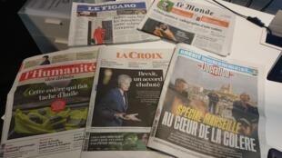 Diarios franceses  16 .11.2018