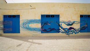 Obra do artista brasileiro Herbert Baglione em Djerba