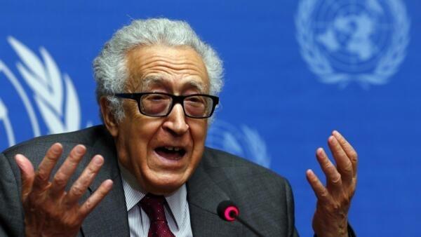Le médiateur de l'ONU et de la Ligue arabe, Lakhdar Brahimi, à Genève, le 27 janvier 2014.