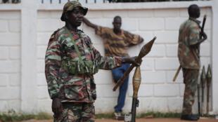 Ex-rebeldes da Seleka nesta quinta-feira em Bangui