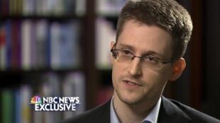 Edward Snowden durante una entrevista con la NBC, el 28 de mayo de 2014.