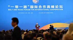 Chinese Vice Premier Zhang Gaoli delivers a speech on the Plenary Session of High-Level Dialogue, at the Belt and Road Forum in Beijing, China May 14, 2017.