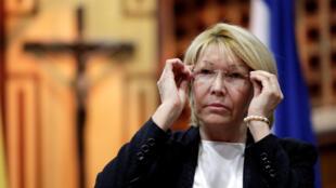Luisa Ortega, ex-procuradora-geral da Venezuela, em 6 de agosto, em Caracas.
