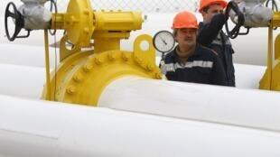 Estação de gás ucraniana ocidental de Orlovka.