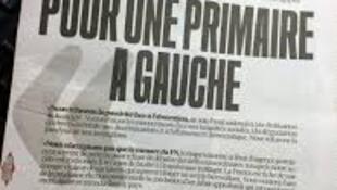 Primeira página  do jornal Libération de Segunda - feira, 11 de Janeiro de 2016