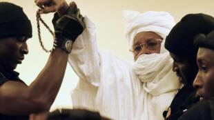 L'ancien président tchadien Hissène Habré lors de son procès en 2015 (photo d'illustration).