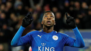 Soccer Football - FA Cup Third Round Replay - Leicester City vs Fleetwood Town - King Power Stadium, Leicester, Britain - January 16, 2018 Leicester City's Kelechi Iheanacho celebrates scoring their first goal REUTERS/Darren Staples