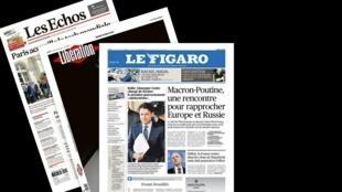 Os jornais franceses analisam a viagem do presidente Emmanuel Macron à Rússia, na tentativa de estreitar os laços entre Paris e Moscou.