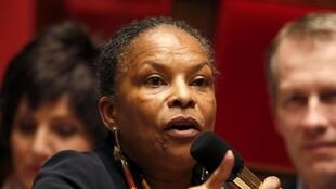 French Justice Minister Christiane Taubira will receive