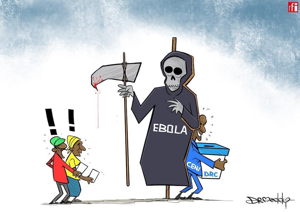 DR-Congo: Uchaguzi umeahirishwa mashariki mwa jimbo la Kivu Kaskazini ikidaiwa ni kutokana na hofu ya ugonjwa wa Ebola (27/12/2018).