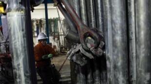 Exploração de gás de xisto em Fort Worth, Texas, nos Estados Unidos.