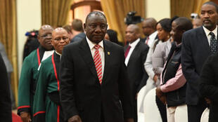 President Cyril Ramaphosa arrives at Sefako Makgatho Presidential Guest House in Tshwane for the swearing-in ceremony of new cabinet, 30th May 2019