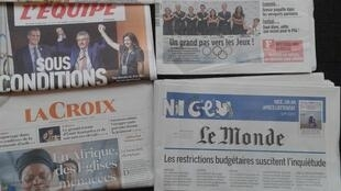 Imprensa francesa do dia 12.7.2017