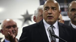 L'ancien Premier ministre et leader du parti GERB, Boïko Borissov, arrivé en tête des élections législatives, dimanche 26 mars 2017.