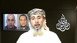 Nasser bin Ali al-Ansi, a leader of the Yemeni branch of al Qaeda (AQAP) in a still from a social media website, which purports to show Al Qaeda in Yemen claiming responsibility for the Charlie Hebdo attack