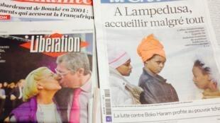 Primeiras páginas dos diários franceses de 24/02/2014