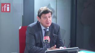 Partick Kanner, Président du groupe socialiste au Sénat dans les locaux de RFI, le 16 janvier 2020.