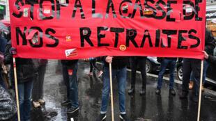 Manifestation contre la réforme des retraites, à Paris, le 12 décembre dernier.