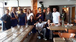 L'équipe du restaurant Tontine.