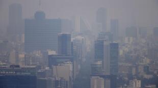 La ciudad de México en medio de la contaminación, el pasado 16 de marzo de 2016.