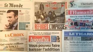 Os jornais franceses desta quinta-feira, 21 de Abril de 2016