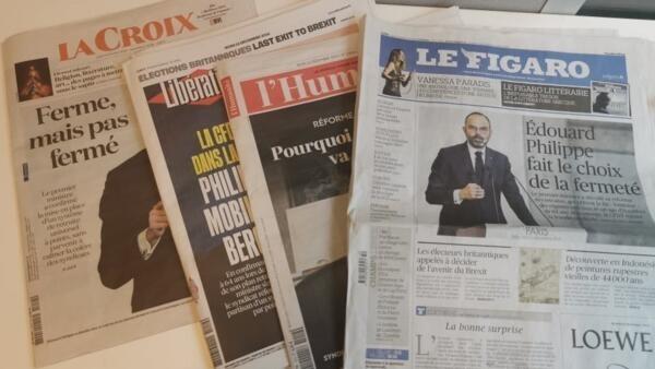 Primeiras páginas dos jornais franceses de 12 de dezembro de 2019