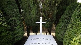 View taken on on July 26, 2013 of the tomb of French Marechal Philippe Petain, who died on 1951 during his captivity in L'Ile-d'Yeu, western France.