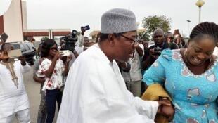 Boni Yayi, l'ex-président béninois, à son arrivée à Cotonou le 20 novembre 2019.