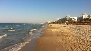 Empty hotel beaches in Sousse, where 38 people were killed by gunmen in June.