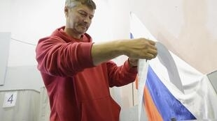 Евгений Ройзман во время выборов мэра Екатеринбурга 08/09/2013