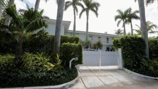 Une résidence du financier Jeffrey Epstein à Palm Beach, en Floride, le 14 mars 2014.
