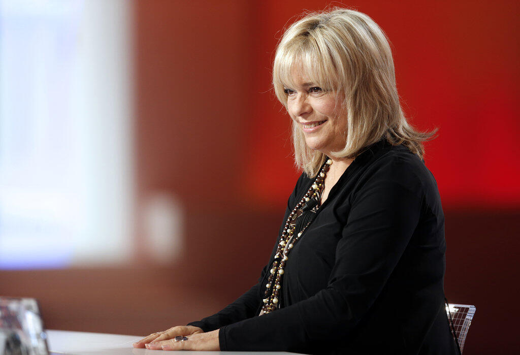 """In this file photo taken on October 30, 2012 French singer France Gall taking part in the TV show """"Le grand journal"""" on a set of French TV Canal+ in Paris. France Gall, died at age 70, in the morning, on January 7, 2018."""