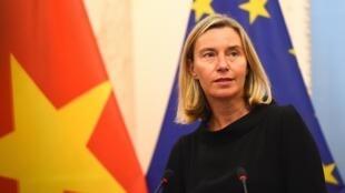 Lãnh đạo ngoại giao và an ninh của Liên Âu, bà Federica Mogherini, Hà Nội, ngày 5/8/2019.