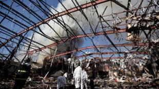 Iémen: bairro de Sanaa bombardeado 10/10/2016