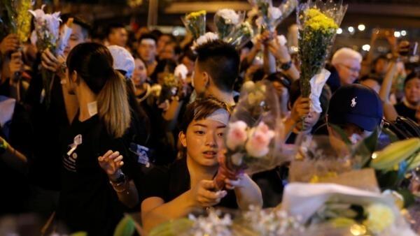 香港民眾6月16日上街抗議資料圖片