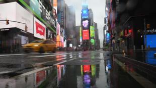 美国纽约时代广场 2020年3月23日 疫情下照片