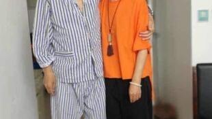 刘霞近日与丈夫刘晓波在一起的照片