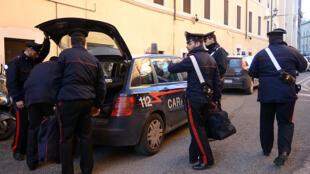 Operação policial contra a máfia na Itália.