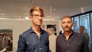 Photographers Colin Delfosse and Michele Sibiloni at their UNHCR-commissioned photo exhibitions in and around DRC, at the War Correspondents' Week Bayeux Oct-Nov. 2018