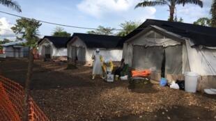 Le Centre traitement Ebola (CTE) de Mangina, dans le Nord Kivu, en RDC, installé par MSF, le 24 août 2018.