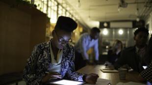 Un espace de coworking en Afrique.
