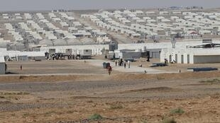 The Azraq refugee camp, mostly populated by Syrian refugees, in Jordan.