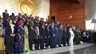 Les ministres des Affaires étrangères des 55 pays-membres de l'Union africaine, le 7 février 2020 à Addis-Abeba.
