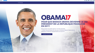 Obama: o candidato fictício à presidência da França.